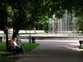 Фонтаны в парке. Июль 2003.