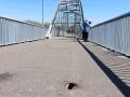Пешеходный мост через Сож, апрель 2013, фото agiss