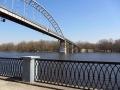 Пешеходный мост через Сож, март 2013, фото agiss