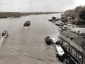 Вид на пристань и реку Сож с пешеходного моста 1972. Из архива Александра Фаранова