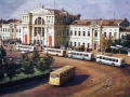 Привокзальная площадь. Открытка 1986-го года