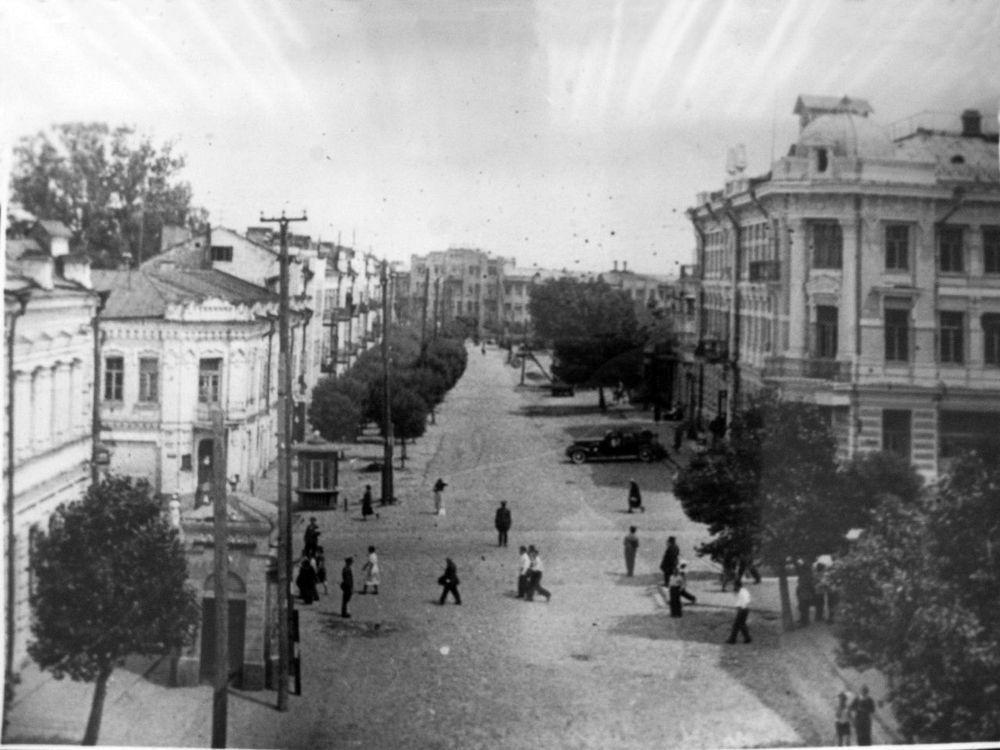 Улица Крестьянская в 1939 году.