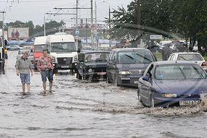 Проливные дожди идут в Гомеле