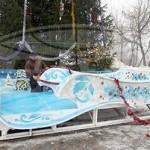 В Гомеле изготовили сани для Деда Мороза