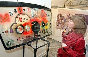 Выставка живописи на автомобильных стеклах открылась в Гомеле