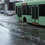 Ливень затопил несколько улиц в Гомеле