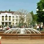 Главной праздничной площадкой стал фонтан на площади Победы