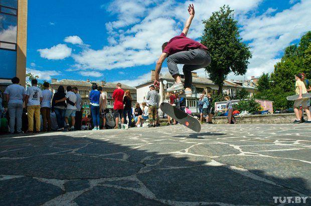 В Гомеле прошли соревнования по скейтбордингу