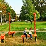 Креативные скамейки в Гомеле
