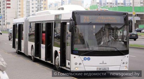 Новые автобусы появились на улицах Гомеля