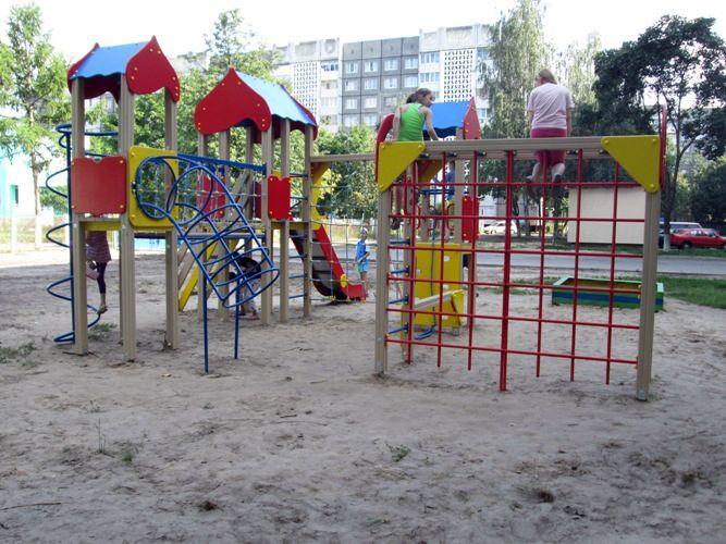 Новый детские игровые городки по улице Огоренко
