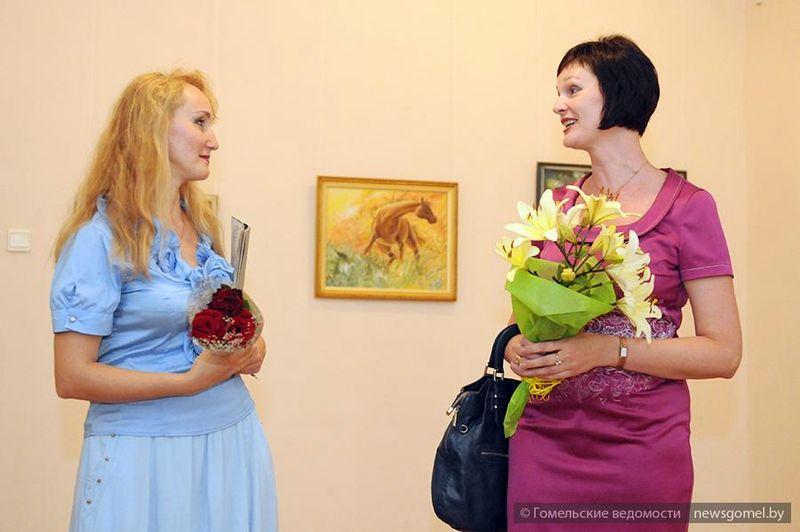 Выставка картин с изображением лошадей в Гомеле