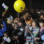 "На площадке возле Ледового дворца прошла праздничная ""Дискотека радио ""Мир"""