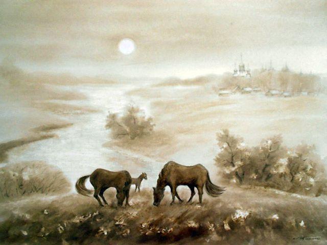 Гомельчанка представит написанные нефтью картины в Брянске
