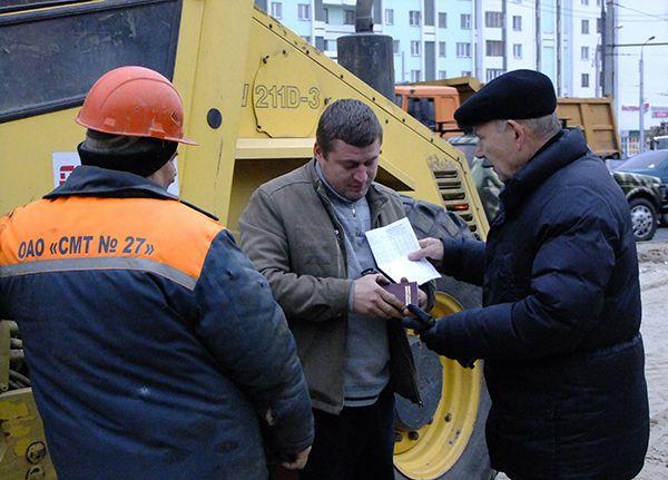 Мобильная группа горисполкома проверила стройплощадки на центральных улицах Гомеля
