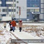 По улице Мазурова сделали временные тротуары