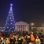 В Гомеле зажглись новогодние ёлки
