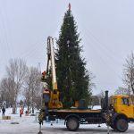 В Советском районе завершён монтаж ёлки