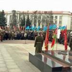 На площади Труда в Гомеле почтили память защитников Отечества