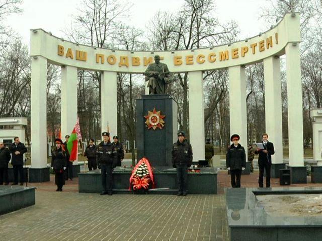 У мемориального комплекса на Аллее Героев состоялся митинг