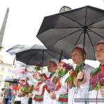 Открытие памятника комсомольцам-подпольщикам после реконструкции