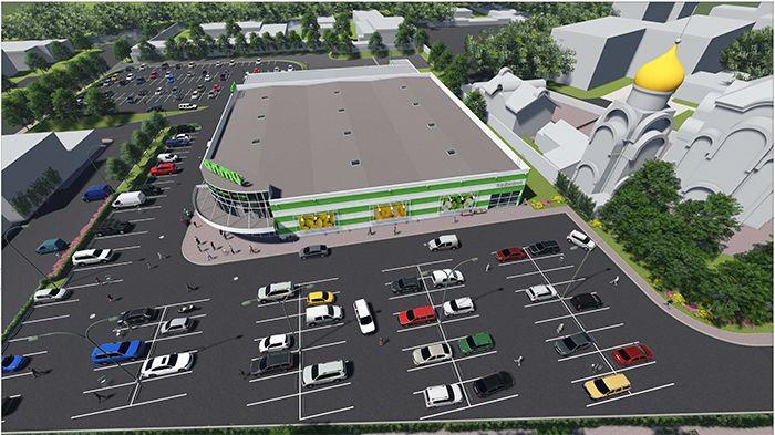 Супермаркет «Алми» на месте снесенного рынка «Быховский»