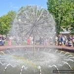 Запуск фонтана в Железнодорожном районе