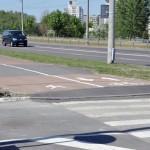 На велодорожке по улице Мазурова уменьшили высоту бордюров