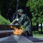 Курган Славы пополнился памятной землей, привезенной из мест военных сражений