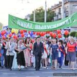 В Новобелицком районе Гомеля прошло торжественное шествие выпускников