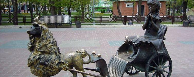 Скульптурная композиция «Золотой ключик»