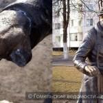 Гомельская скульптура шарманщика осталась без пальца