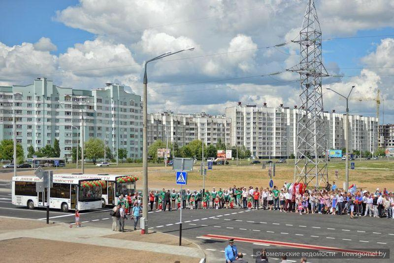 В Гомеле открыли подъезд к 18-му микрорайону