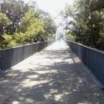 На пешеходном мосту через Сож демонтировали решетчатые перегородки