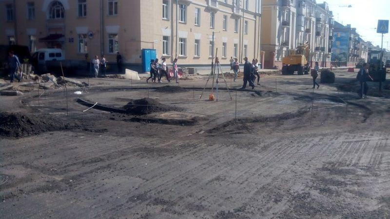 На улице Кирова строят автомобильное кольцо
