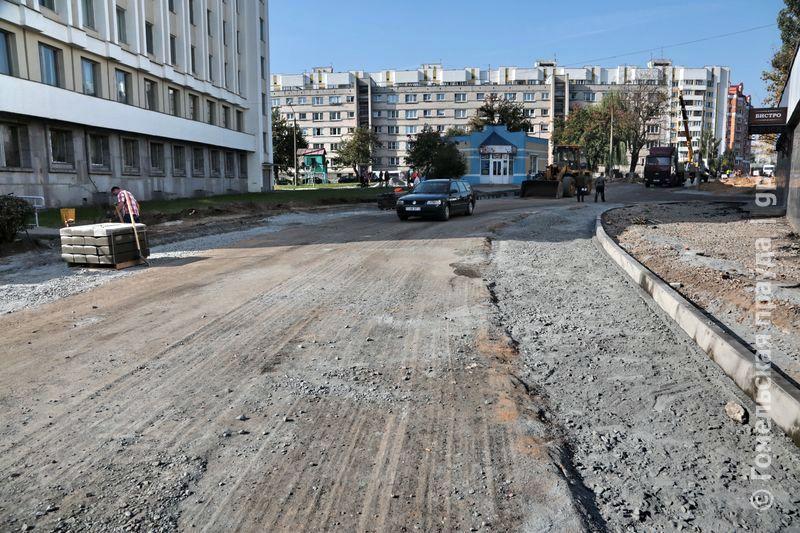Расширение проезжей части по улице Телегина в Гомеле