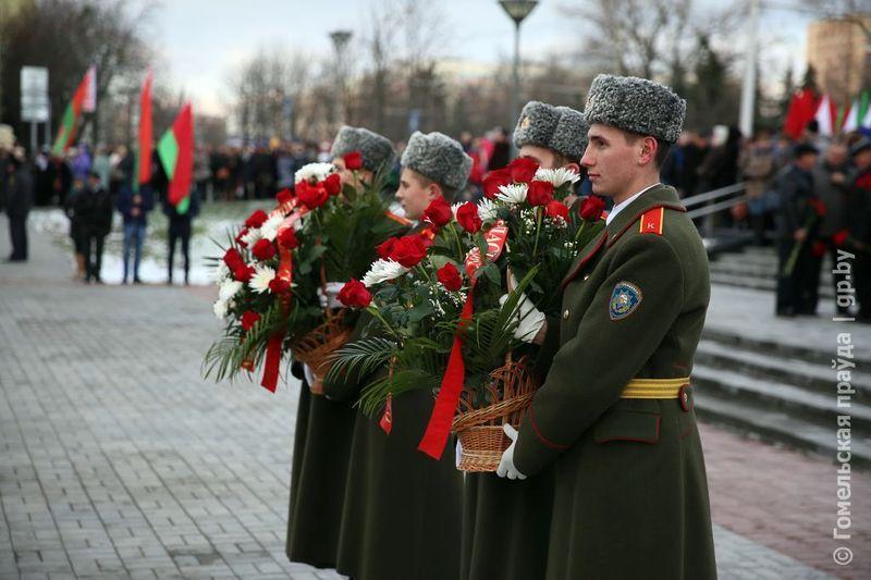 На Аллее Героев в День освобождения Гомеля прошёл митинг