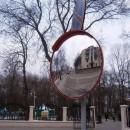 Ещё на трех перекрестках Гомеля поставили сферические зеркала для водителей