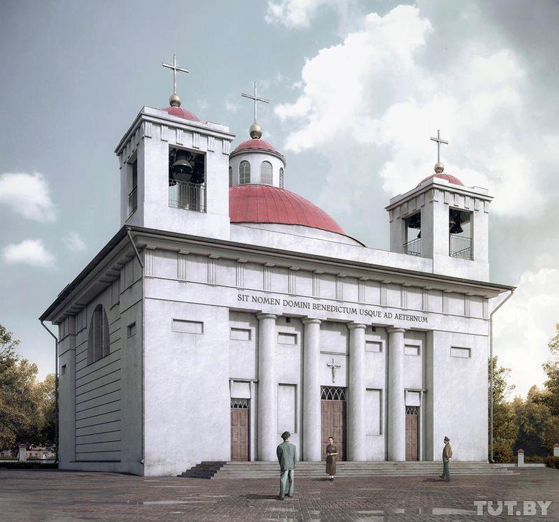 3D-проект костела, снесенного в 30-е годы XX века.