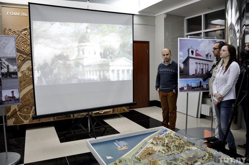На презентации показали фильм-исследование о старом Гомеле.