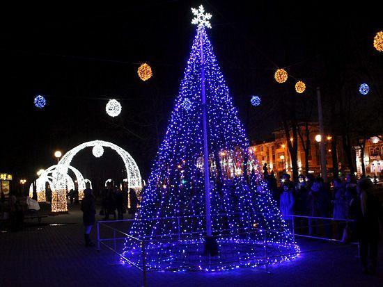В городе над Сожем зажглась новогодняя иллюминация