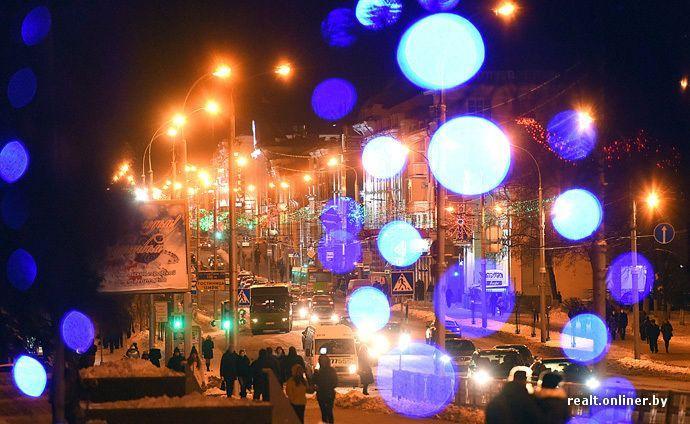 Гомель зажег. Иллюминация в этом году стала самой яркой в истории города