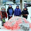 Снежные фигуры в детсаду «Солнышко»