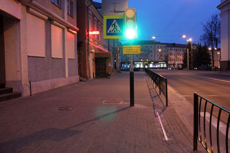 В Гомеле появился первый «лежачий светофор»