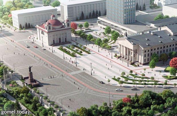 Гомельские студенты-архитекторы создали 3D-проект реконструкции площади Ленина