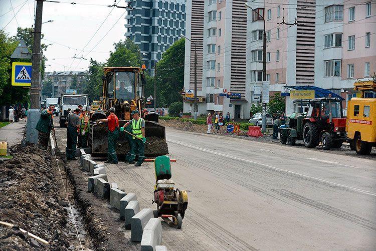Ремонт на Полесской планируется закончить к 10 августа