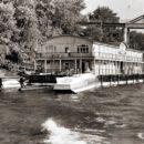Дебаркадер у реки Сож в конце Киевского спуска стоял ещё в 1980-е годы. Фото из архива А.Ф. Рогалёва.