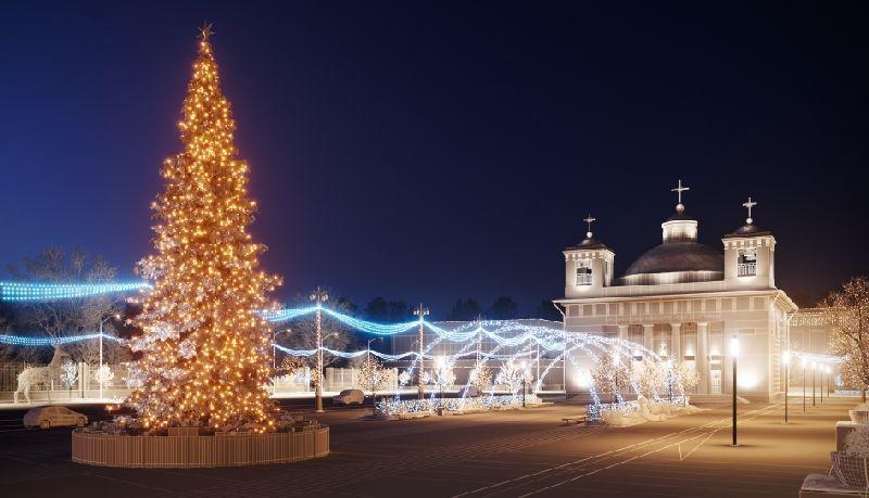 Чудо на Рождество: как могла бы выглядеть главная площадь Гомеля зимой