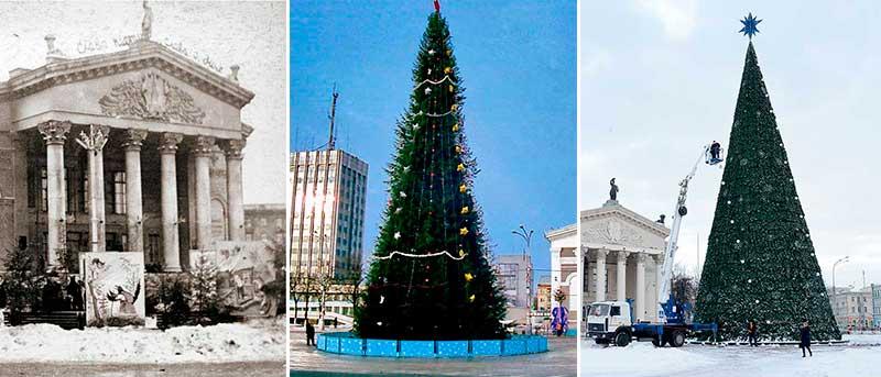 Как менялась главная городская ёлка Гомеля