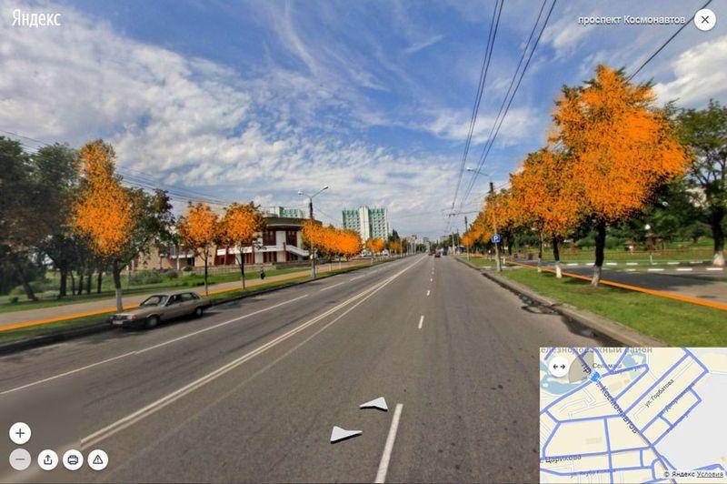 На участке от ул. Озерной до ул. Ефремова также потребуется снос деревьев с двух сторон.